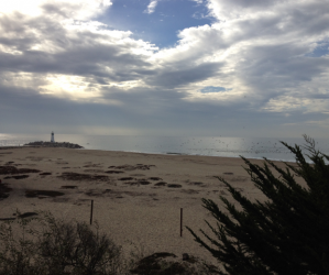 Beautiful cloudscapes can often be seen from the Seabright shores. Photo by Molly Lautamo.