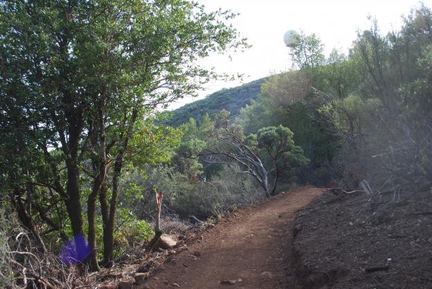 Mt. Umunhum Trail under construction. Photo courtesy Midpeninsula Regional Open Space District.