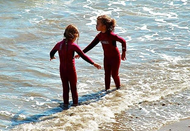 Future WOW contestants at Capitola Beach in 2013.