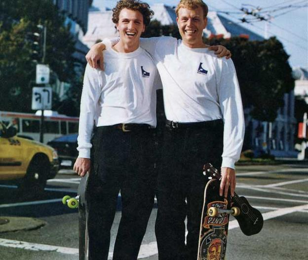 Lyndon and Peter Rive, co-founders of Solar City, back in 2002.