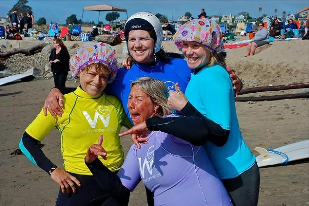 Four Women on Waves contestants at the 2013 event.