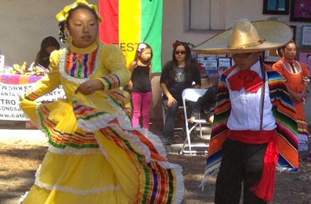 Kids dressed up and danced at the Mole and Mariachis Festival, which is destined to become a rite of fall.