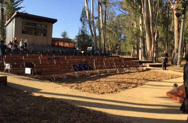 Santa Cruz Shakespeare's new Audrey Stanley Grove Theater will be dedicated tonight. Mark Dammann photo.