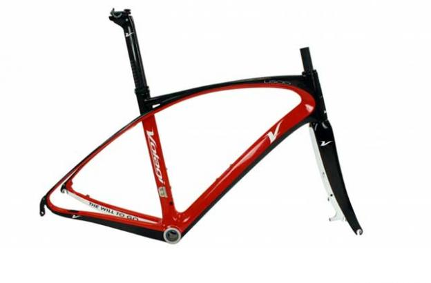 Volagi's aero monocoque frame is built from high modulus 30/24T carbon.
