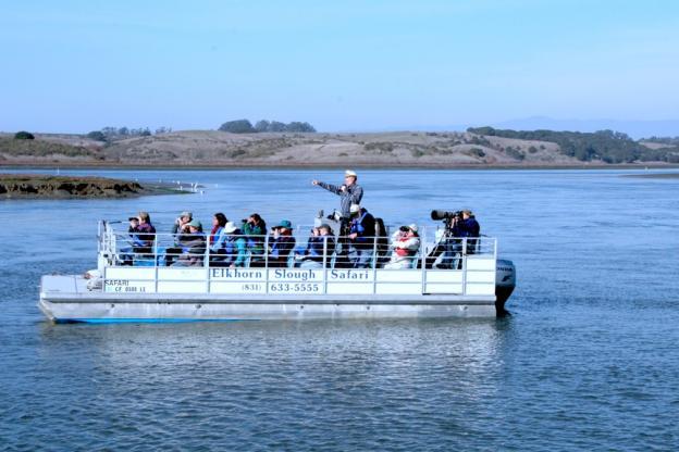 Captain Yohn Gideon's custom pontoon boat.  Photo provided by Yohn Gideon.