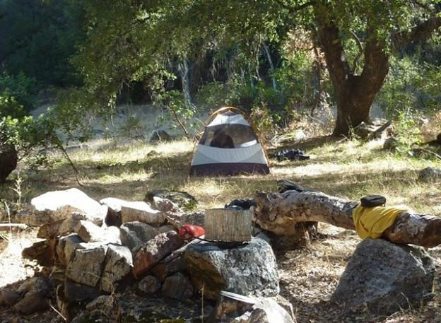 A sweet campsite above the Arroyo Seco River. Photo by Brooke Wright.