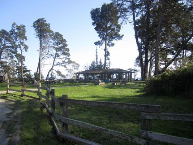 The Civilian Conservation Corps-built pavilion at New Brighton. Hilltromper photo.