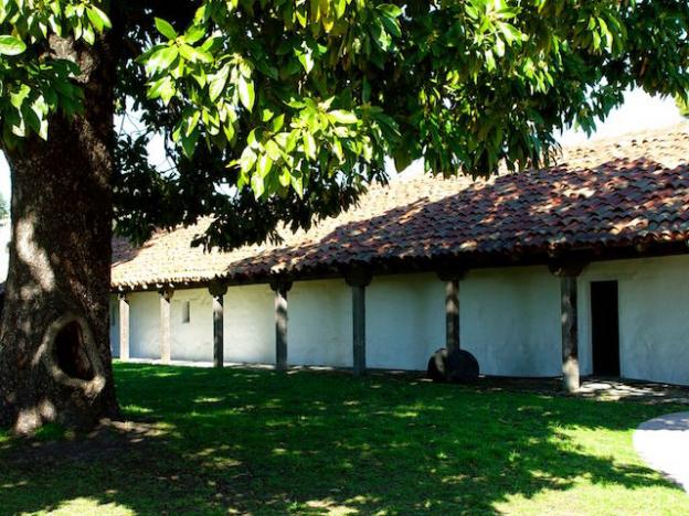 The Mission Adobe and courtyard in high summer. Friends of SC State Parks photo.