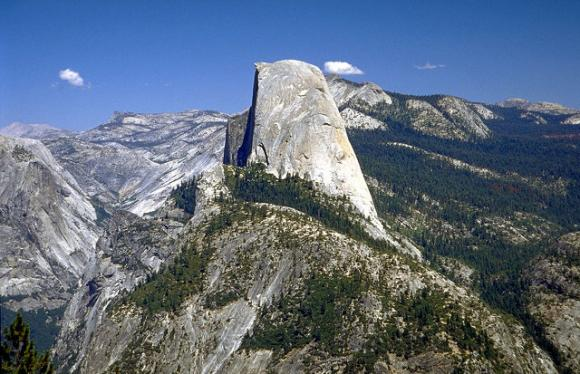 The cables are up on Half Dome until October, meaning there's still time for mere mortals to climb it  in 2014. Photo by Rainer Hübenthal..