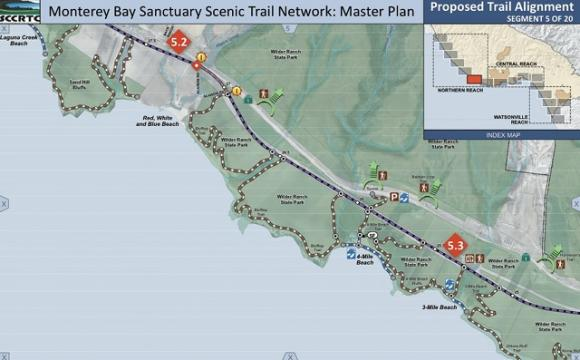 Detail of one segment of the Monterey Bay Sanctuary Scenic Trail out of 20 planned. From MBSST Master Plan.