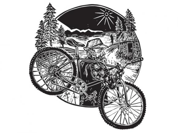 Woodblock print by Campbell Steers