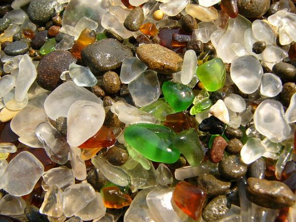 Glass Beach, Fort Bragg, California, by Jef Poskanzer