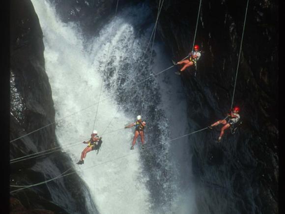 Schneider and team during an Eco Challenge in Australia.
