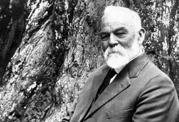 Self-portrait of photographer-turned-activist A.P. Hill, who helped found the Sempervirens Club and save the last big trees in Big Basin.