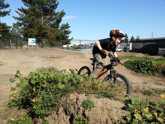 The West Side Pump Track is Santa Cruz's newest city park.